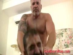 hairy bear bottom fist gang-banged