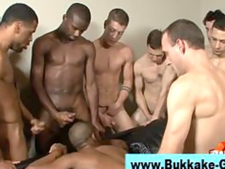 gay ebony stud bukkake fuck facial