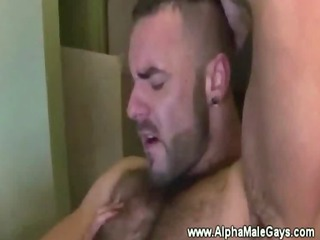 strong muscled gays enjoy with a cockring