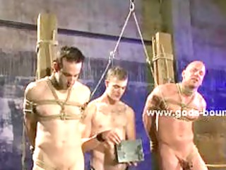 gay masked porn slave tied with hands behind and