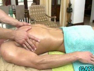 gay masseur massages clients cock