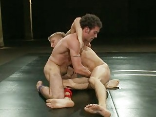 experienced gay guys wrestling for domination