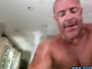gay masseur licks and takes assfucked by straight