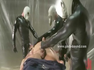 masked guys dressed inside leather gay porn