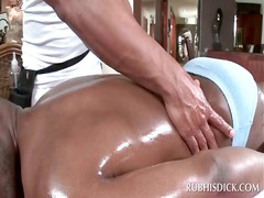 full figure massage with afro gay