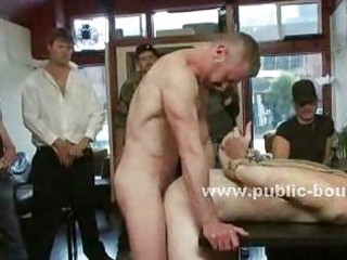 bar gay worker tied and abused