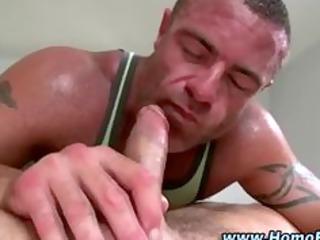 gay hunk gives straight man a blowjob and bottom