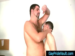 twink obtains rimmed and gang-banged by bear gay