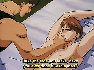 anime gay tied and banged by a stud