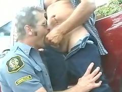 dudes inside uniform - cowboy and cop