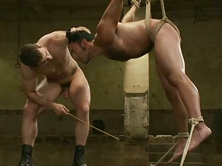 naughty gay fellow had tortured with electricity