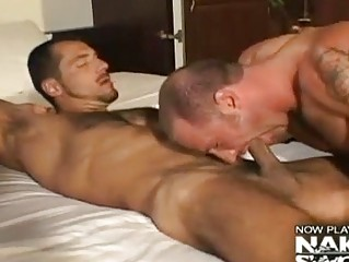 rimjob and ass drill with gay fellows