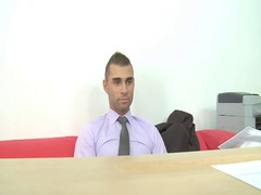 job interview (straight banged and cumshots face)