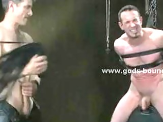 gay male sex slave tied and prepared by fuck