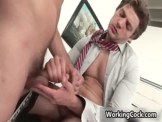 andrew green takes his firm erection gay sex