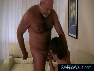 granny gay bear obtaining his cock sucked by