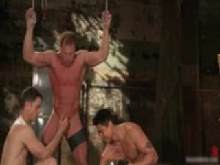 muscled boy strung and hung gay bdsm gay fuck