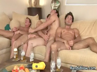 extremely impressive super studs in gay foursome