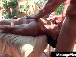 super buffed dude gets oiled up for gay part5