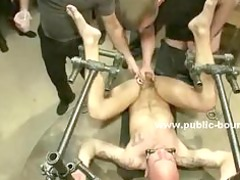 shaved strong gay boy bound inside bunch porn