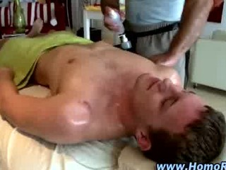 young straight man obtains his arse massaged by
