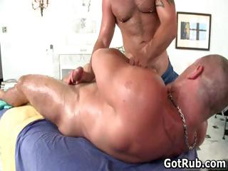 sweet male obtains surprising gay massage part1