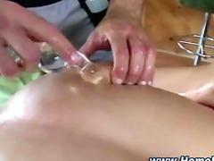 straight man gets a sex toy massage
